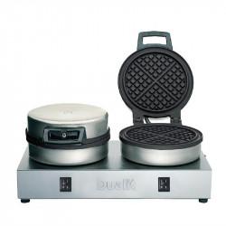 Gaufrier double 1600 W - Ø 152 x ep. 10 mm - 60 gaufres / heures - en fonte - DUALIT 74002 DUALIT Gaufriers