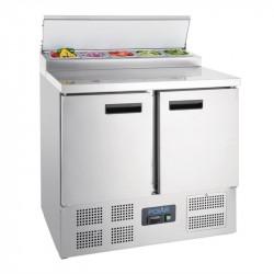 Comptoir de préparation 254 Litres réfrigéré, 2 portes compatible GN POLAR Comptoirs de préparation