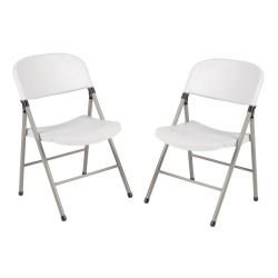 Lot de 2 Chaises pliantes, blanc, Bolero BOLERO Chaises