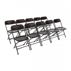 Lot de 10 Chaises pliantes, noir, Bolero BOLERO Chaises