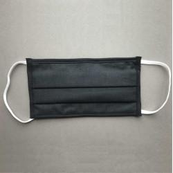 Masque de protection 3 plis lavable catégorie 1 - Noir EQUIPEMENT DIRECT Masques Homologués