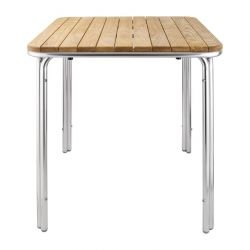 Table carrée 600 mm, frêne et aluminium, Bolero BOLERO Tables
