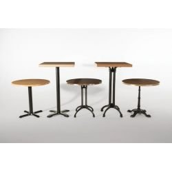 Base de pied de table, décoré, en fonte, noir, Bolero BOLERO Pieds de tables