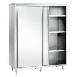 Armoire haute L 1400 x P 700 mm, 2 portes, inox Bartscher Armoires Hautes