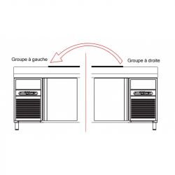 Supplément groupe frigorifique positionné à gauche du meuble Coreco Accessoires et pièces détachées