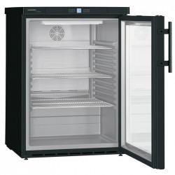 Armoire positive 141 Litres, porte vitrée, epoxy noir Liebherr Armoires positives (+1°C+6°C)