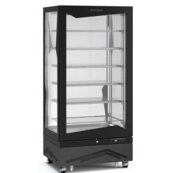 Vitrine verticale 650 litres bi-température, ventilée, aluminium TECFRIGO Vitrines Verticales