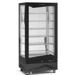 Vitrine verticale 650 litres bi-température, ventilée, aluminium TECFRIGO Vitrines XL
