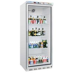 Réfrigérateur 600 litres vertical, une porte vitrée - blanc FORCAR Armoires vitrées