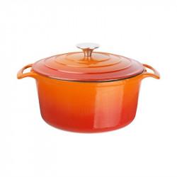 Cocotte ronde 4 Litres, orange, Vogue VOGUE Cocottes