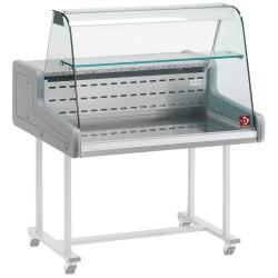 Vitrine réfrigérée vitre bombée (L) 1000 mm, à poser DIAMOND Vitrines Horizontales