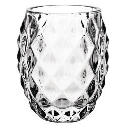 Photophore en verre transparent diamant OLYMPIA Arts de la tables