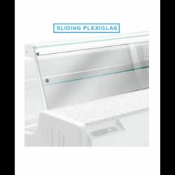 KIT plexiglass coulissants HILL 2000 mm DIAMOND Accessoires pour vitrines réfrigérées
