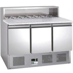 Meuble 402 Litres pizza 3 portes inox AFI Collin Lucy Comptoirs de préparation
