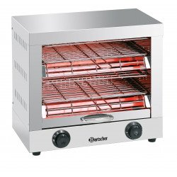 Toaster Inox 2 niveaux à quartz Bartscher Toasters