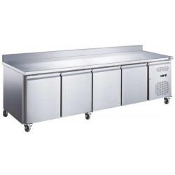Table 553 Litres réfrigérée 4 portes + dosseret inox AFI Collin Lucy Tables et soubassements