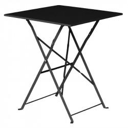Table de terrasse carrée 600 mm, en acier, noir, Bolero BOLERO Tables