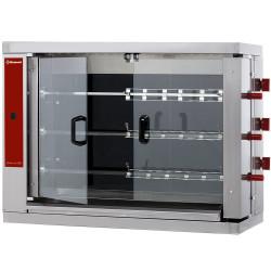 Rôtissoire électrique L 1098 x P 480 x H 820 mm - 3 broches 900 mm - 18 volailles - inox
