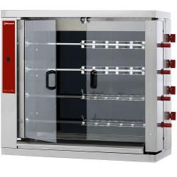 Rôtissoire électrique L 1098 x P 480 x H 1000 mm - 4 broches 900 mm - 24 volailles - inox