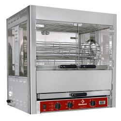Rôtissoire électrique L 850 x P 700 x H 940 mm - 5 balancelles -  25 Volailles - inox