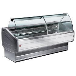 Vitrine réfrigérée ventilée, vitre bombée + réserve DIAMOND Vitrines Horizontales