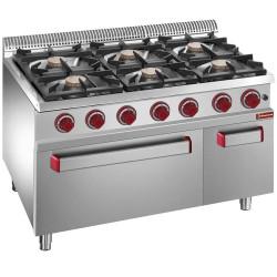 Cuisinière à gaz 6 feux +  four à gaz + armoire neutre