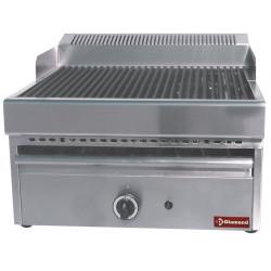 Grill-vapeur gaz 2 zones, avec grille de cuisson en fonte