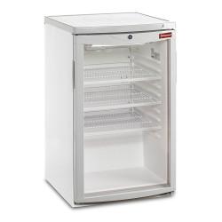 Frigo vitrine 110 litres, porte vitrée, blanche