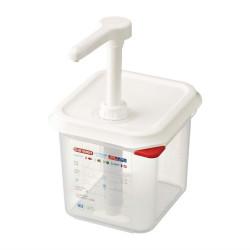 Distributeur de sauce GN 1/6 transparent 2.6L ARAVEN Distributeurs de sauce