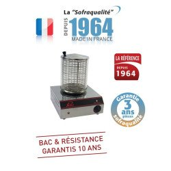 Chauffe saucisses 800 W (MONO), 120 pièces / heure, Gamme Tradition Sofraca Hot-Dog