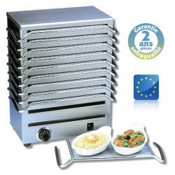 Chauffe plats à 6 plaques, 1200 W (MONO) Sofraca Chauffes assiettes