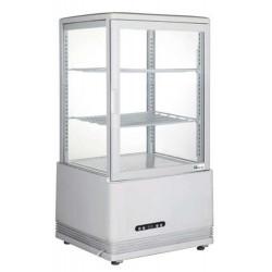 Vitrine réfrigérée 58 Litres, 4 face vitrées, 3 niveaux, à poser, blanche AFI Collin Lucy ALEX PRÊT