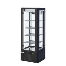 Vitrine réfrigérée 600 Litres, 4 faces vitrées, sur roulettes AFI Collin Lucy ALEX PRÊT