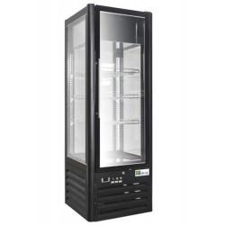 Vitrine réfrigérée pâtissière 400 Litres, 4 faces vitrées, sur roulettes AFI Collin Lucy ALEX PRÊT