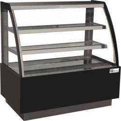 Vitrine réfrigérée pâtissière 450 Litres, 3 niveaux, vitre bombée, (L) 1200 mm AFI Collin Lucy ALEX PRÊT