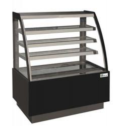 Vitrine réfrigérée pâtissière 4 niveaux, vitre bombée, (L) 1200 mm AFI Collin Lucy ALEX PRÊT