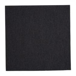 Lot de 2000 serviettes dîner (L) 400 mm, 2 plis 1/4, noires, Fiesta FIESTA Produits jetables écologiques
