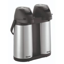 Thermos à pompe Duo, 2 x 1,9 Litres Bartscher Distributeurs de boissons chaudes