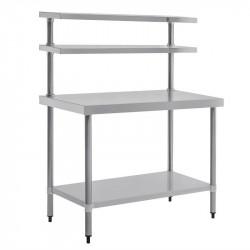 Table Inox 1500(H) x 1800(L) x 600(P) mm, avec Étagère Supérieure VOGUE Tables inox