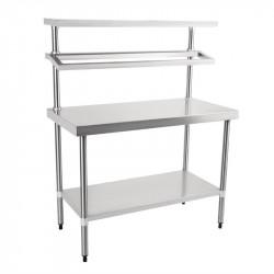 Table inox de préparation, L 1200 x P 600 mm VOGUE Tables inox