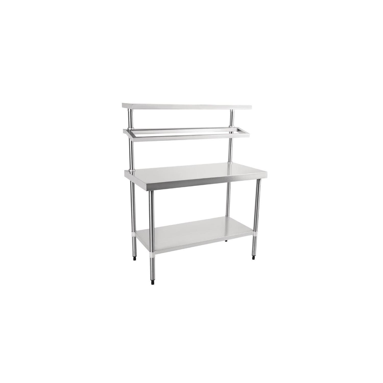 Table inox de préparation, L 1800 x P 600 mm