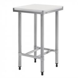 Table inox de découpe, avec planche épaisse 35 mm