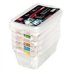 Lot de 5 boîtes 3,5 Litres de stockage GN 1/4 + couvercle, MAFTER BOURGEAT