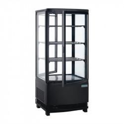 Vitrine réfrigérée 86 Litres, 2 portes incurvées, noir - POLAR POLAR Vitrines Verticales