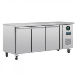 Table réfrigérée négative 417 litres 3 portes, inox POLAR Tables et soubassements