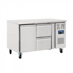 Table réfrigérée 282 litres avec 1 porte 2 tiroirs  POLAR Tables et soubassements