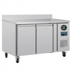 Table réfrigérée négative GN 2 portes - P 700 mm avec dosseret POLAR Tables et soubassements