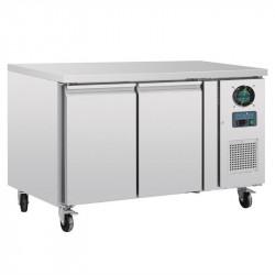 Table réfrigérée 282 litres négative, 2 portes - Compatible GN POLAR Tables et soubassements