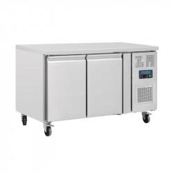 Table de préparation 228 litres réfrigérée 2 portes, P 600 mm - inox POLAR Tables et soubassements