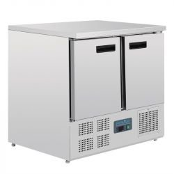Table réfrigérée compacte 240 litres, 2 portes P 700 mm, inox POLAR Tables et soubassements